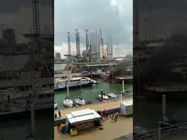 Motorboot brandt uit in Oostende