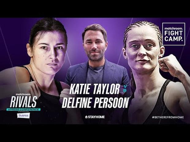 Katie Taylor vs Delfine Persoon 2 ePress Conference   Rivals w_ Eddie Hearn