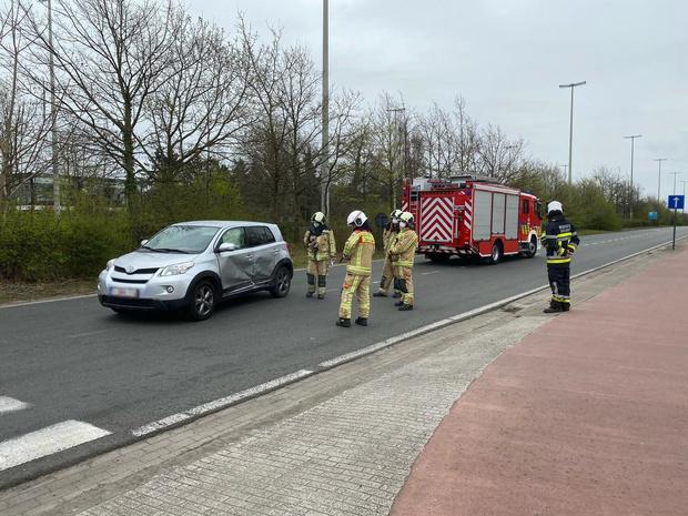 Ongeval op parallelweg Expressweg in Sint-Andries