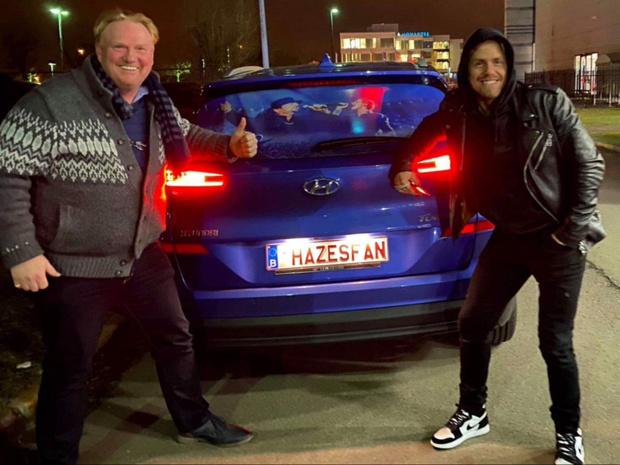 Martin Van Lierde komt in het vtm-programma 'Vanity Plates' met nummerplaat 'Hazesfan'