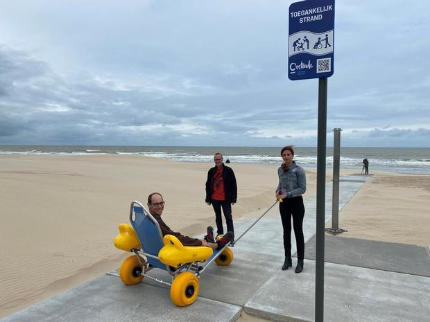 Oostende maakt strand extra toegankelijk voor minder mobiele mensen