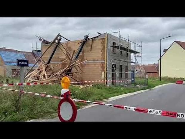 Storm Francis blaast dakgebinte weg in Heist