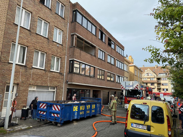 Uitslaande brand in Oostende snel onder controle