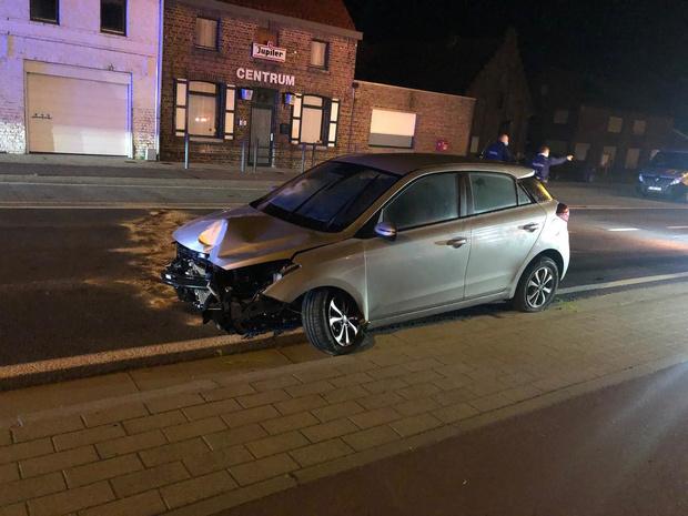 Lichtgewonde bij ongeval in Roksem