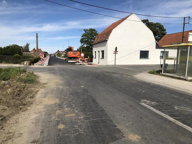 Kruispunt Poperingestraat in Vleteren tijdlang afgesloten voor werken