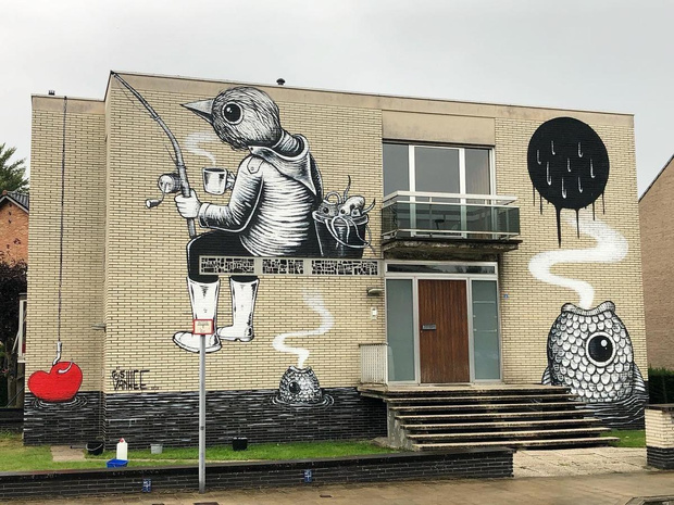 Eerste streetartfestival in Brugge gaat succesvol van start