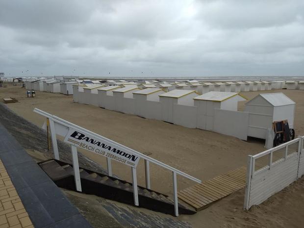 In Zeebrugge dreigt een strandcabine-oorlog