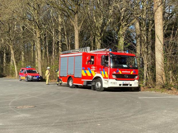 Brandweer rukt uit voor brandje in Nieuwenhovebos
