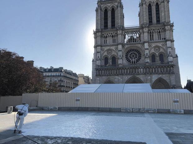Elimination du plomb de Notre-Dame: des équipes belges y ont contribué