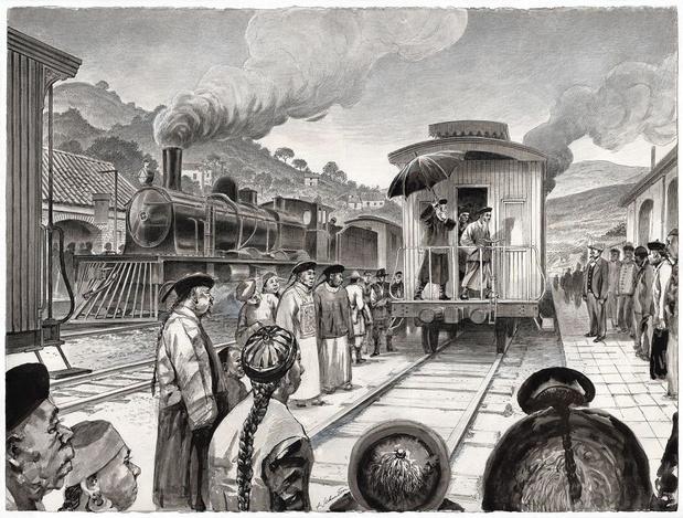 Belgische spoorwegbouwers in China