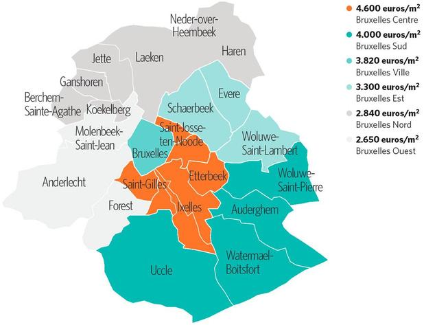 Cap sur le nord et l'ouest de Bruxelles