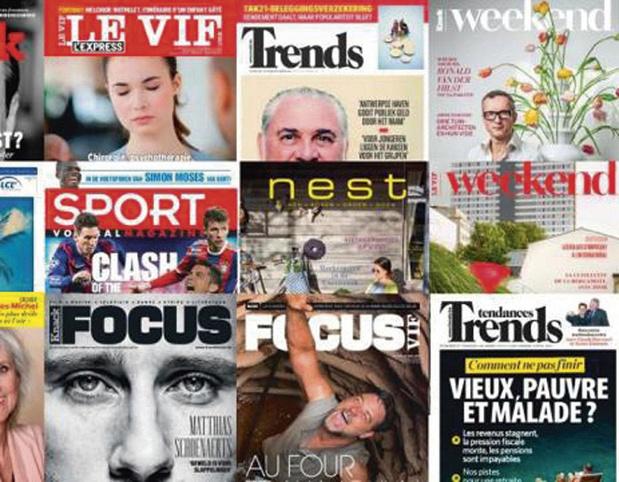 Roularta: progression du marché des lecteurs