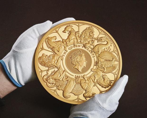 Royal Mint maakt grootste munt ooit