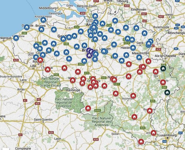 Une carte des centres de triage et de prélèvement en ligne