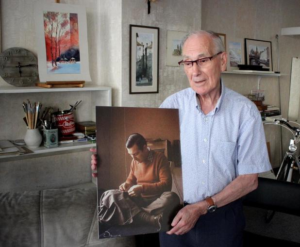 Kleermaker Hendrik Merlevede (84) met tegenzin met pensioen