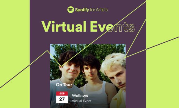 Spotify informeert voortaan ook over virtuele shows van artiesten