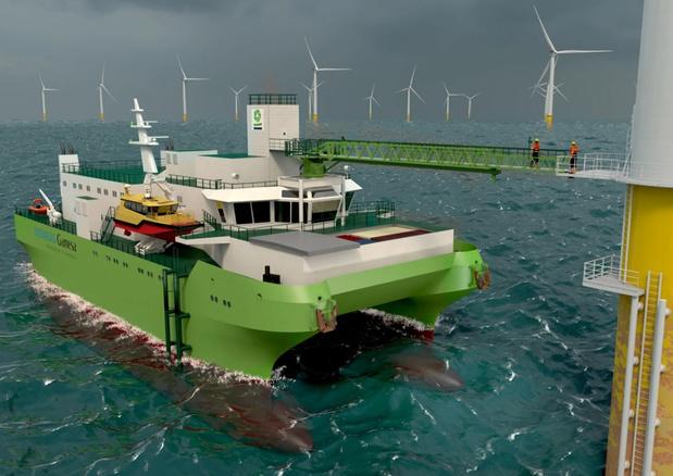 Baggeraar DEME laat onderhoudsschip voor Belgische windmolenparken bouwen