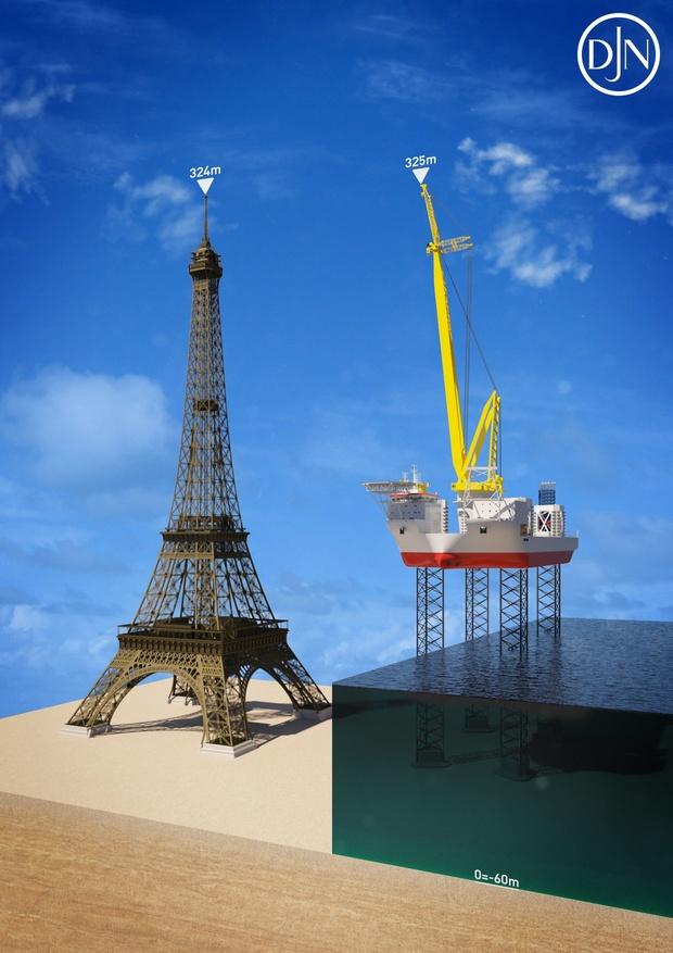 """Le groupe belge Jan De Nul commande une """"tour Eiffel"""" flottante"""