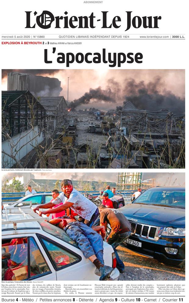 Beyrouth, capitale dévastée, bien plus qu'après la guerre civile (récit)