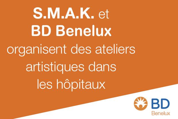 Art for Care : le S.M.A.K. et BD Benelux organisent des ateliers artistiques dans les hôpitaux