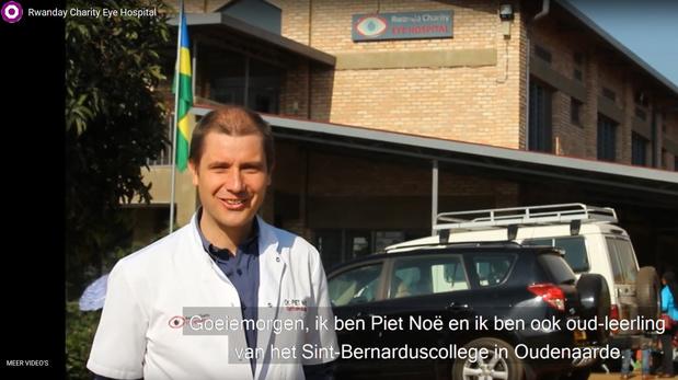 Leerlingen Bernarduscollege Oudenaarde zamelen 10.000 euro in voor oogkliniek van Piet Noë in Rwanda