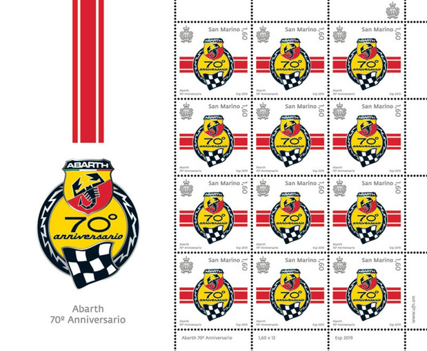 Un timbre-poste pour les 70 ans d'Abarth