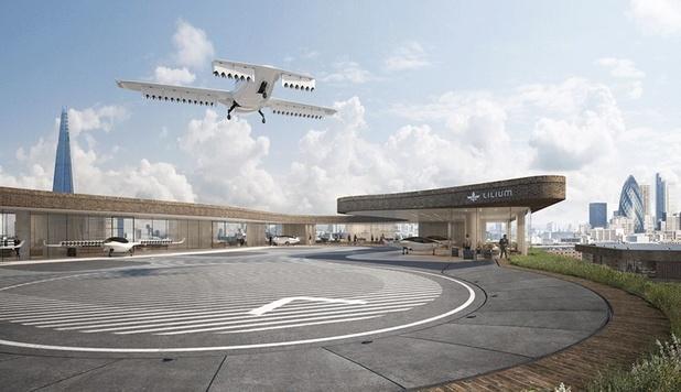 Lilium maakt eerste testvlucht met vliegende taxi