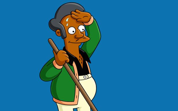 Winkeluitbater Apu van 'The Simpsons' is zijn stem kwijt