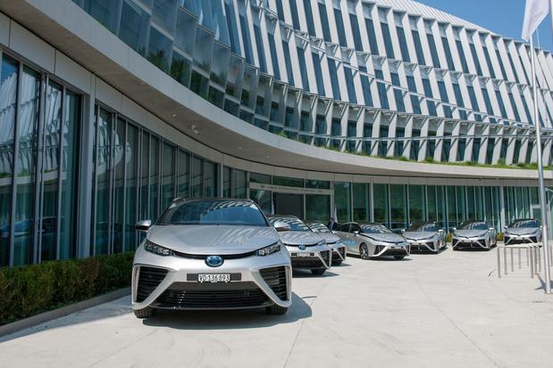 IOC rijdt met Toyota Mirai op waterstof