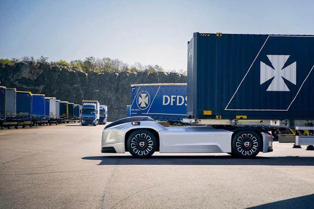 Première mission réelle du Vera, le camion autonome de Volvo