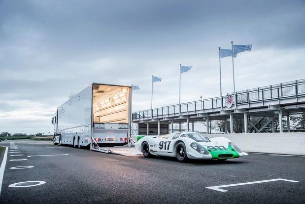 La Porsche a fait rouler quatre 917 à Goodwood
