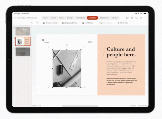 Les applis d'Office pour l'iPad supporteront la souris et le pavé tactile