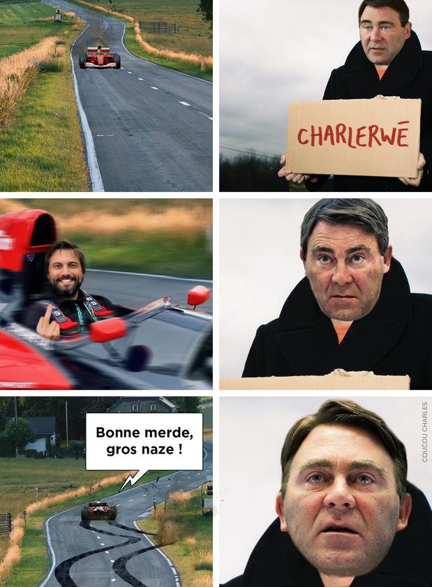 La caricature de Coucou Charles: Denis vs Georges-Louis, fin du game