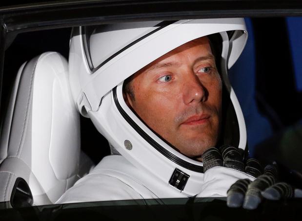 Thomas Pesquet sur le point de s'élancer dans le vide spatial