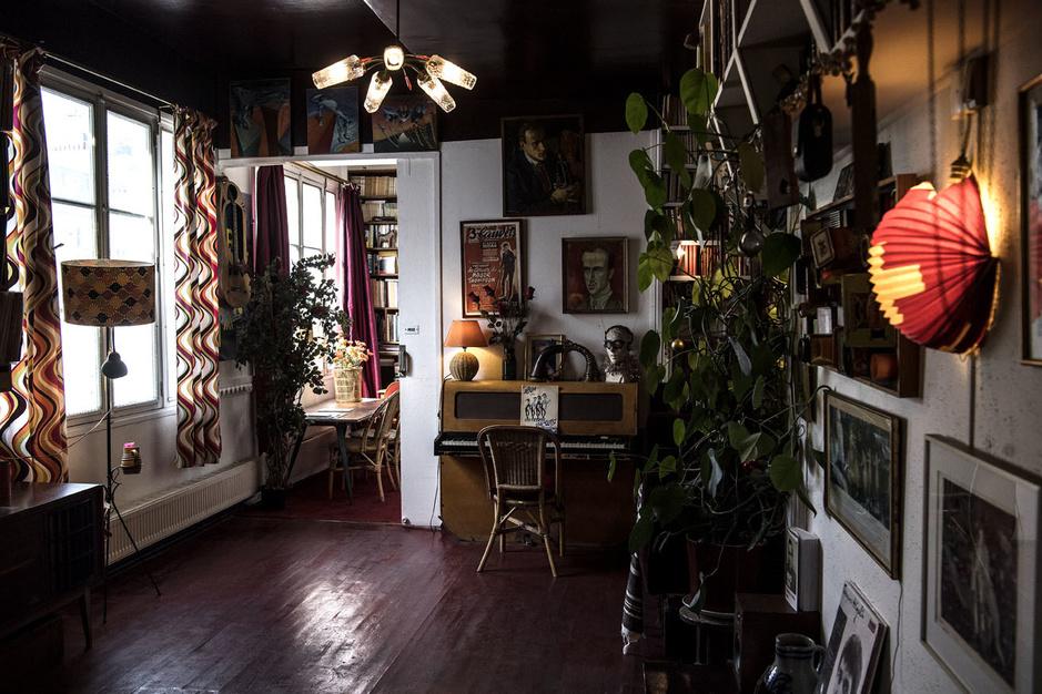 En images: Visite de l'appartement de poche de Boris Vian, en plein Pigalle