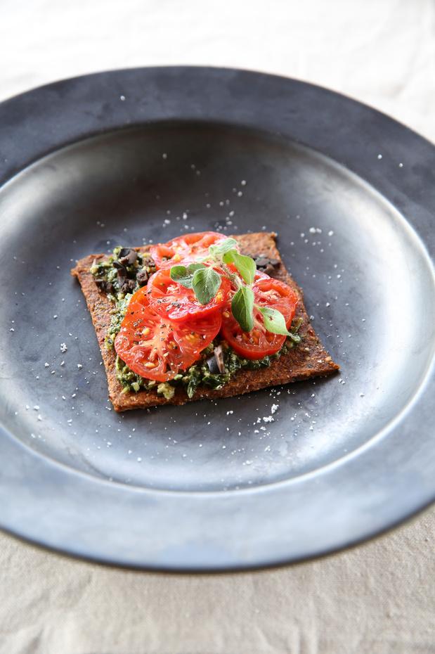 Bruschetta aux tomates et olives