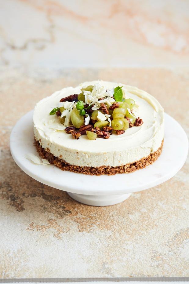 Slow cooking: Recette du Cheese cake au chocolat blanc, noix de pécan et raisin