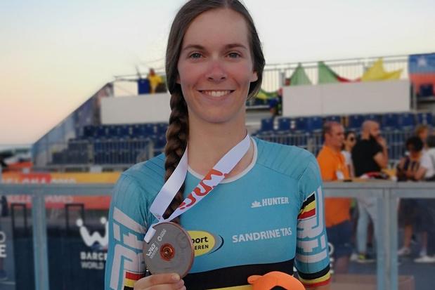 Eerste WK-brons voor Sandrine Tas op de weg