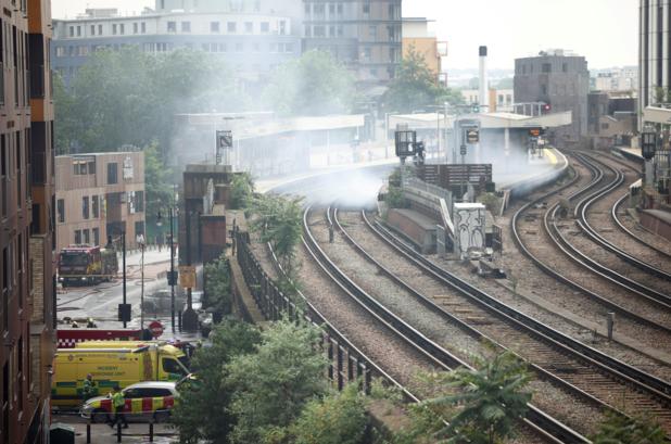 Grote brand in Londens metrostation