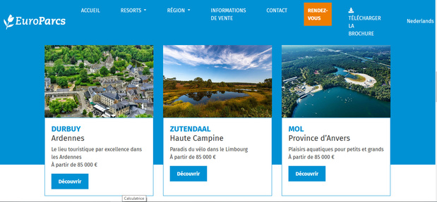 EuroParcs prévoit de s'étendre en Belgique