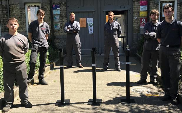 GO! Atheneum Nieuwpoort ontwikkelt ontsmettingspalen voor lokale middenstand