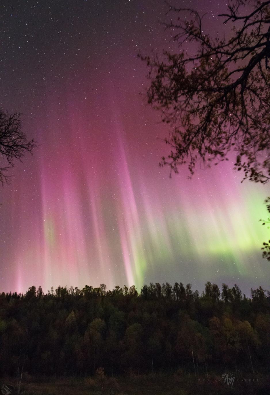 In beeld: nieuwe zonnecyclus kleurt arctische hemel roze