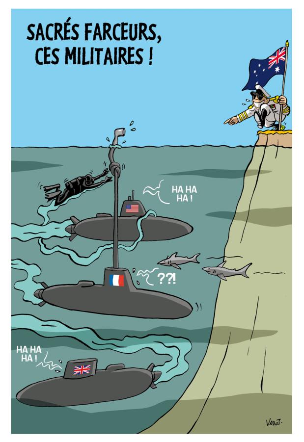 Les compléments de Vadot: les sous-marins nucléaires en Australie, Anuna De Wever et Poutine