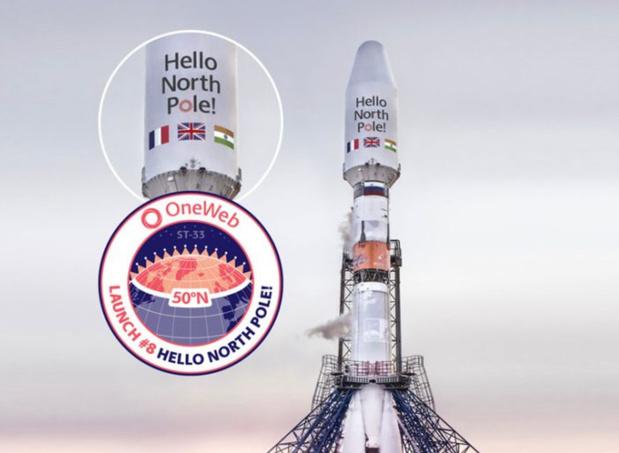 Décollage du lanceur Soyouz avec 36 satellites Internet OneWeb