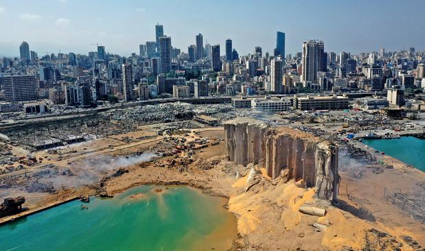 Giften voor noodhulp aan Beiroet komen op gang