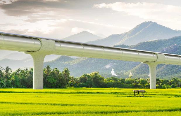 Démarrage de la construction d'une piste d'essai pour l'hyperloop en France