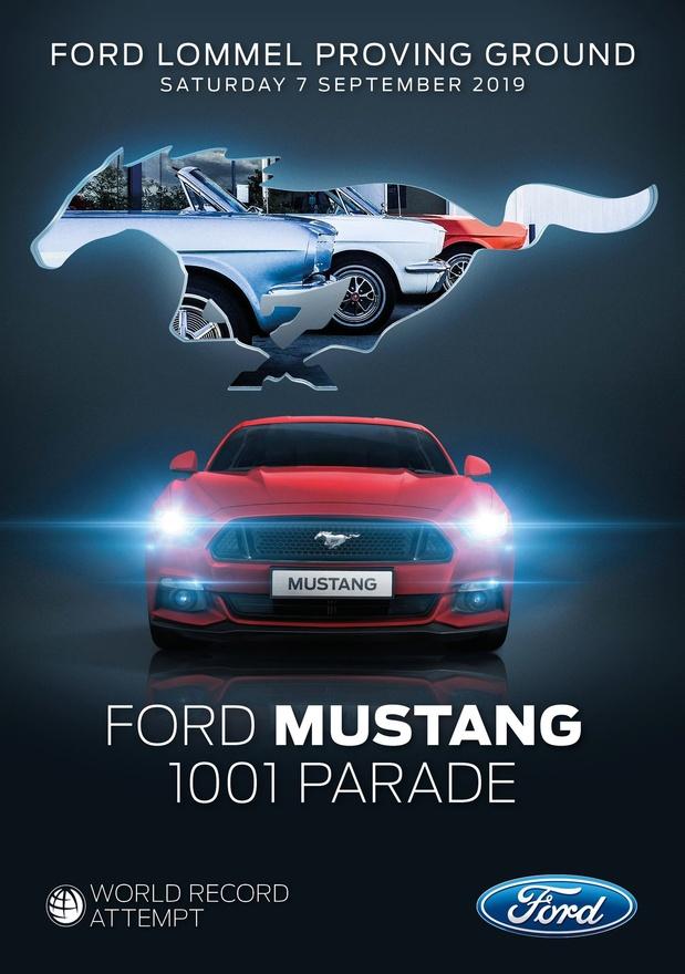Recordpoging voor 55 jaar Ford Mustang