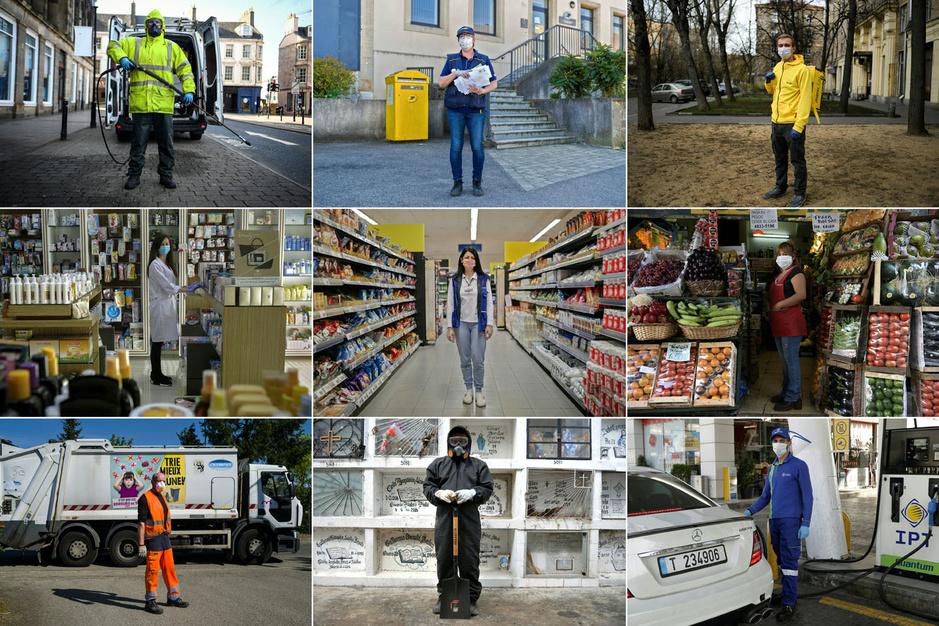 Portraits: Ceux qui travaillent en seconde ligne face au coronavirus, à travers le monde