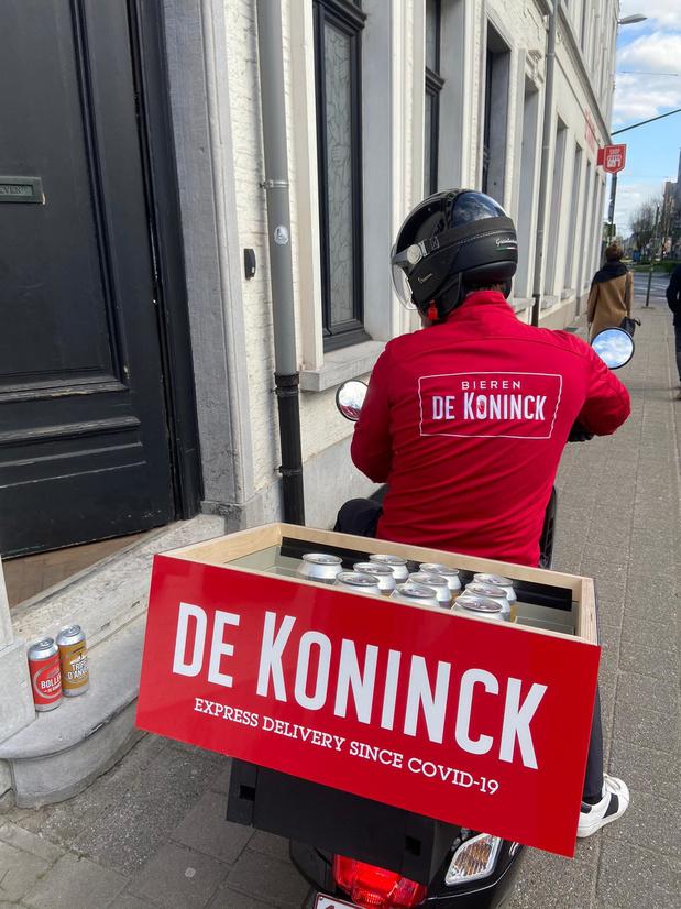 Stadsbrouwerij De Koninck levert vers getapt bier aan huis