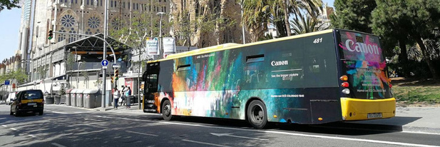 Teletransfer levert het printwerk voor de 600 stadsbussen van Barcelona